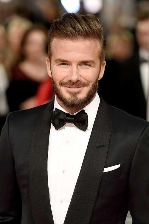 David Beckham Pompadour Hairstyles for Guys