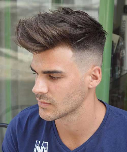 Fade Pompadour Hairstyles for Guys