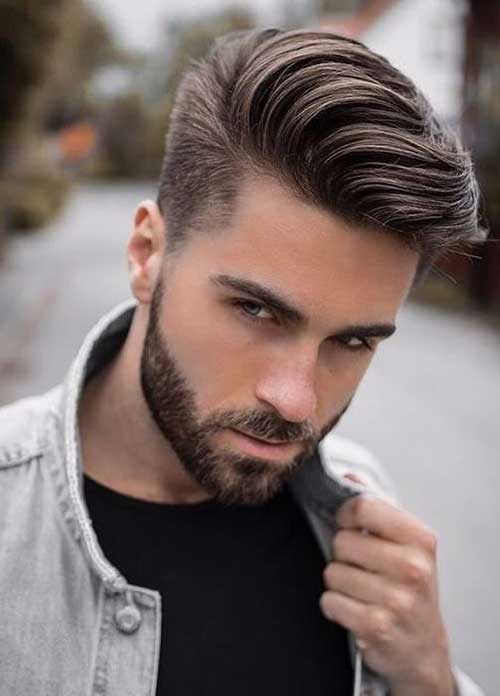 Medium Pompadour Hairstyles for Guys