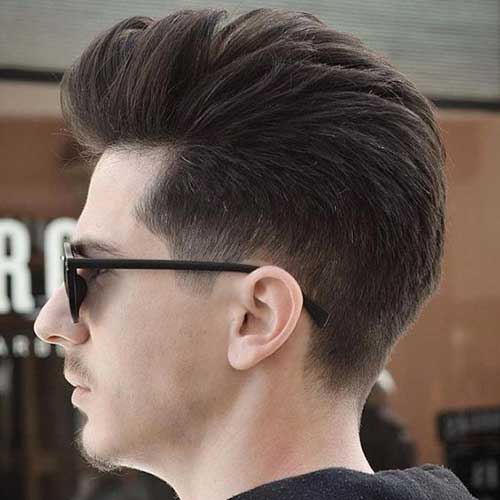 Thick Pompadour Hairstyles for Guys