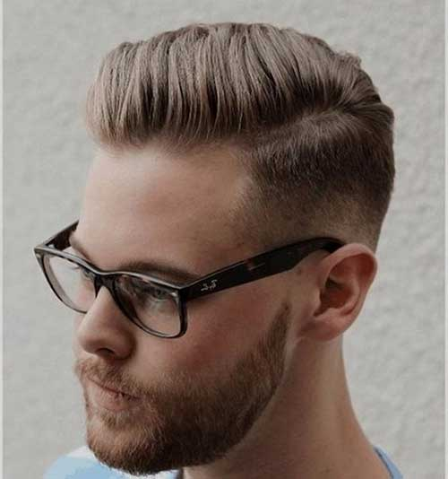 Side Part Pompadour Hairstyles for Guys