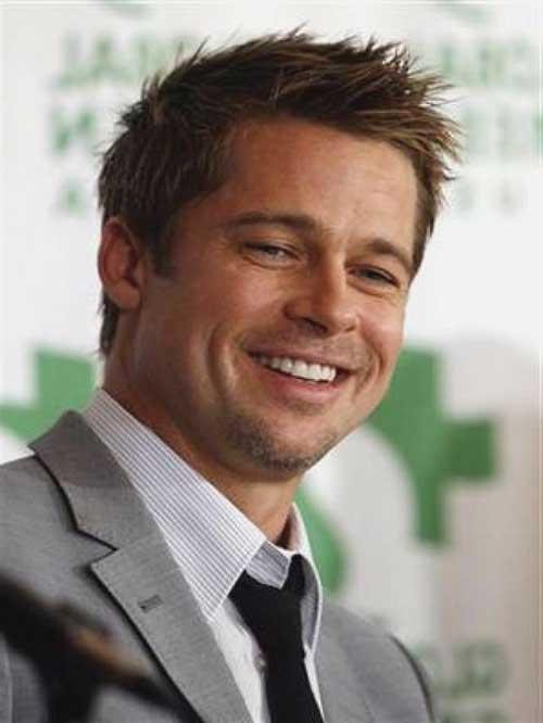 Brad Pitt Thin Haircuts for Men