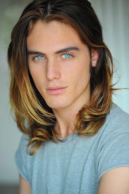 Guys Long Haircuts Color