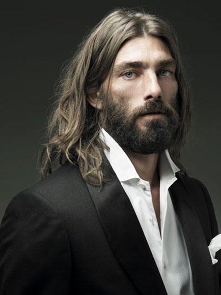Guys Long Haircuts with Beard