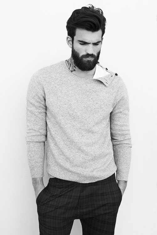 Business Hairstyles with Beard for Men