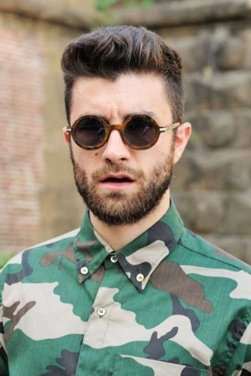 Short on the Sides Hairstyles for Round Face Shape Male-14