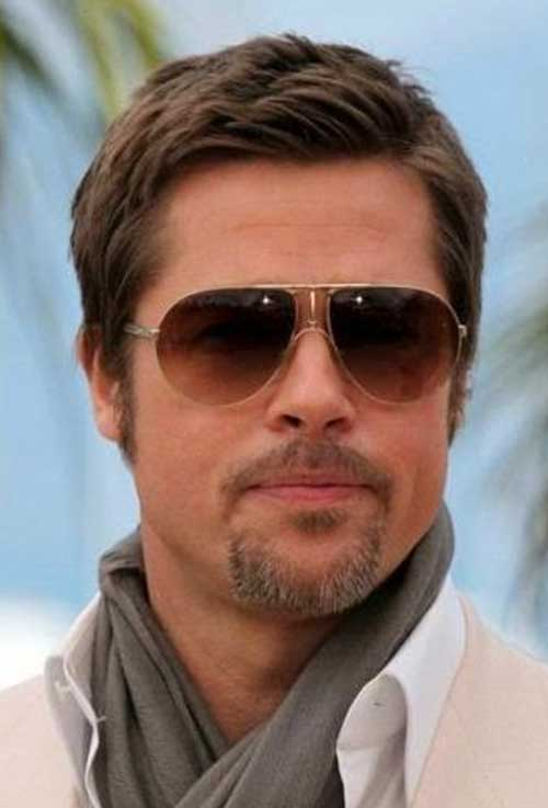 Brad Pitt Hairstyles for Round Face Shape Male-15
