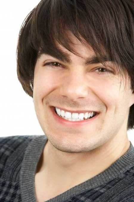 Straight Hairstyles for Round Face Shape Male-20