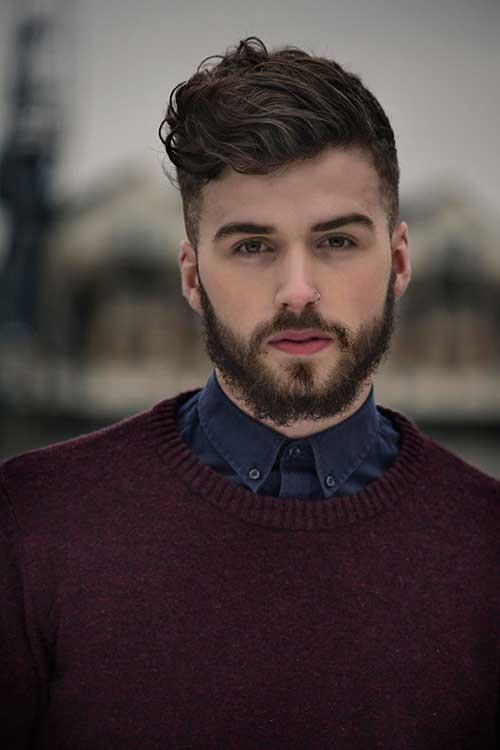 Mens Thick Haircuts with Beard-7