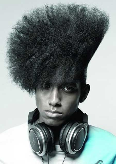 Natural Haircuts with Headphones for Men