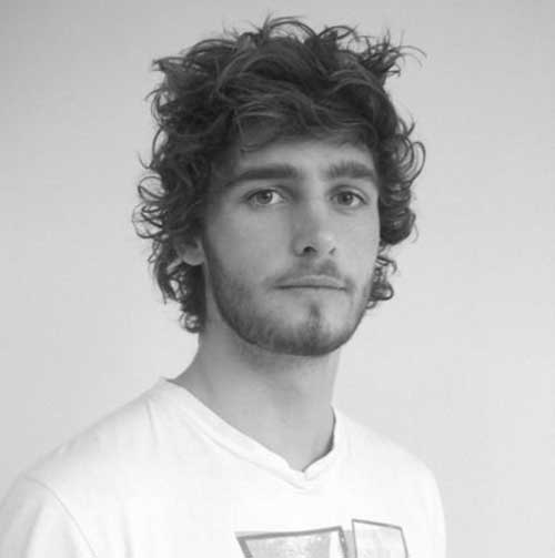Thick Curly Hairstyles for Men with Beard