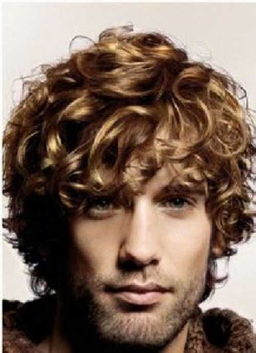 Thick Curly Hairstyles for Men with Round Face