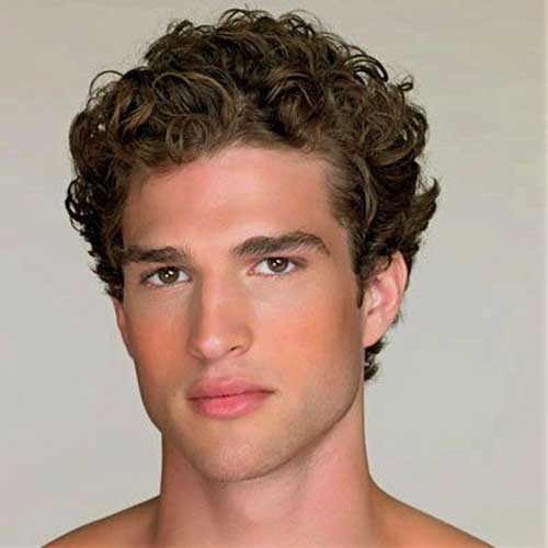 Thick Curly Wavy Hairstyles for Men