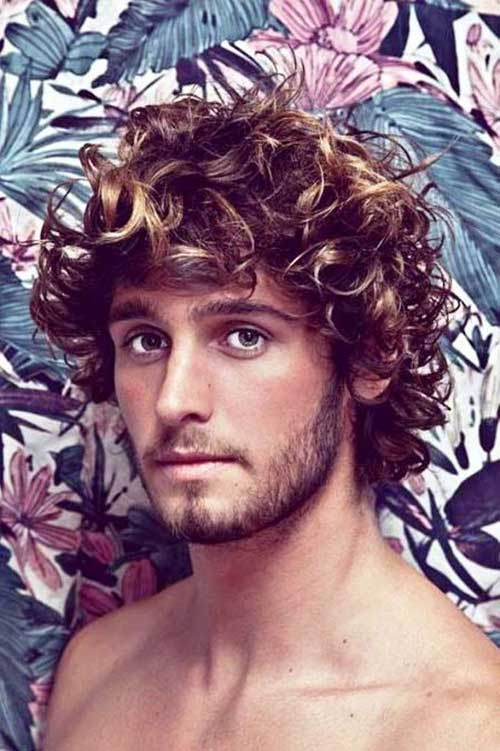 Long Thick Curly Hairstyles for Men