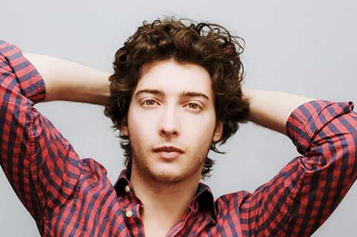 Medium Thick Curly Hairstyles for Men