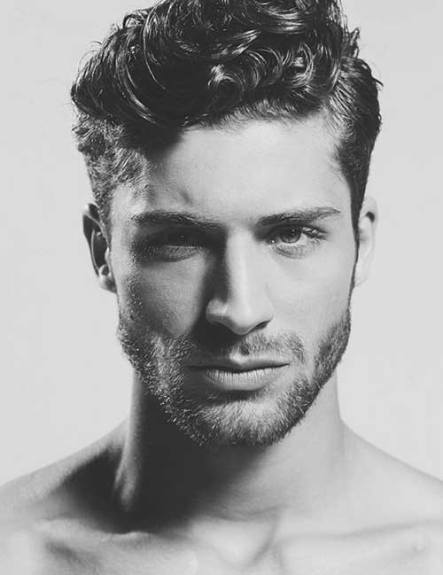 Short Thick Curly Hairstyles for Men