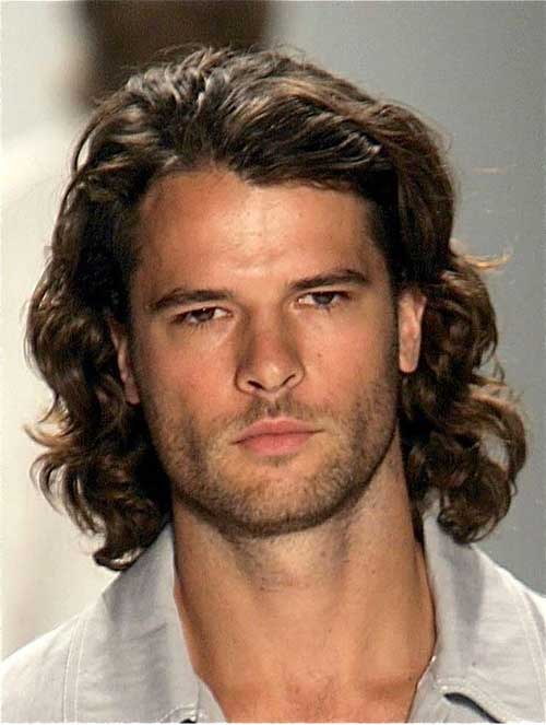 Very Long Thick Curly Hairstyles for Men