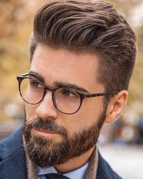 Square Face Haircuts for Men with Beard-8